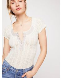 Free People - White Can't Stop Top - Lyst