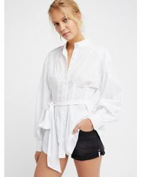 Free People - White Abbey Tunic - Lyst