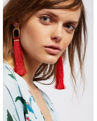 Free People - Red Valerie Tassel Earrings - Lyst
