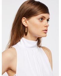 Free People - Multicolor Flat Record Hoops - Lyst