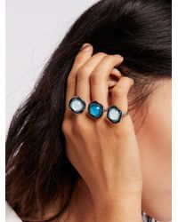 Free People - Black Party Knuckles Cocktail Ring - Lyst