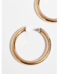 Free People - Metallic Classic Tube Hoop Earrings - Lyst