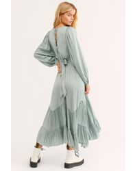 Free People - Green I Need To Know Shiny Maxi Dress - Lyst