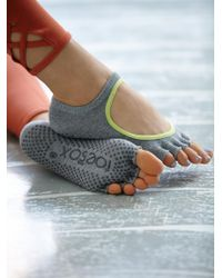Free People - Gray Namaste Yoga Sock - Lyst