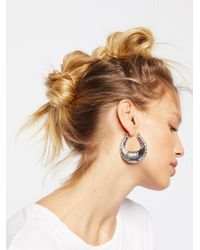 Free People - Metallic Watson Metal Hoops - Lyst
