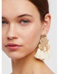 Free People - Yellow Pecos Tassel Earring - Lyst