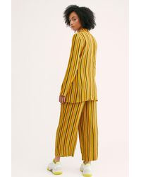 Free People - Yellow Lucy Stripe Suit By Capulet - Lyst