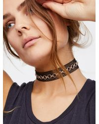 Free People | Black Abbey Fishnet Choker | Lyst
