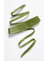 Free People - Green Leather Obi Belt By Ada Collection - Lyst