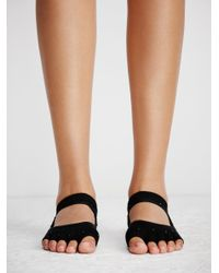 Free People - Black Adorned Bellarina Namaste Yoga Sock - Lyst