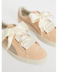 Free People - Natural Basket Up Heart Sneaker - Lyst
