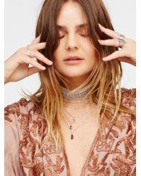 Free People | Metallic Alexandria Draped Lace Choker | Lyst