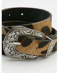 Free People - Multicolor Animal Print Leather Belt - Lyst