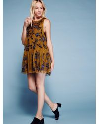 Free People | Multicolor Annabelle Trapeze Dress | Lyst
