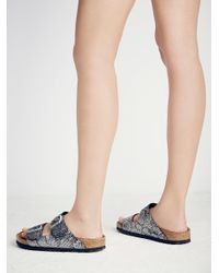 Free People - Metallic Arizona Python Birkenstock - Lyst