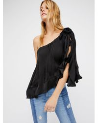 Free People | Black Around The World Top | Lyst