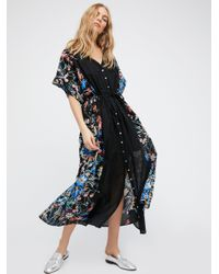 Free People | Black Avant Garden Maxi Dress | Lyst