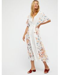 Free People | White Avant Garden Maxi Dress | Lyst