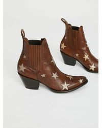 Free People - Brown Reach For The Stars Ankle Boot - Lyst