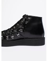 Free People - Black T.u.k Corset Creeper Boot - Lyst