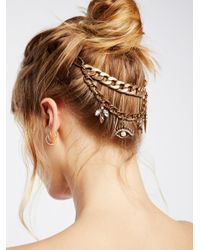 Free People - Metallic Biker Chain Halo - Lyst