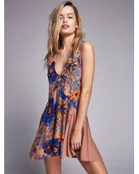 Free People | Multicolor Back Yard Party Printed Tunic | Lyst