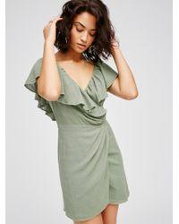 Free People | Green Bali Dreamin' Mini Dress | Lyst