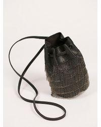 Free People | Black Bardot Fringe Mini Bucket | Lyst