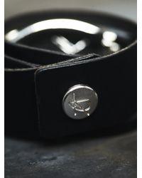 Free People - Black Baton Leather Wrap Cuff - Lyst