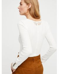 Free People - White Dream On Henley - Lyst