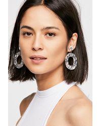 Free People - Gray Lucy Resin Hoop Earrings - Lyst