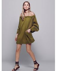 Free People | Green Beach Dreamin Tunic | Lyst