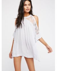 Free People | Multicolor Beachy And Peachy Tunic | Lyst