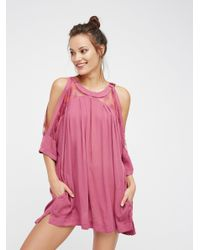 Free People | Pink Beachy And Peachy Tunic | Lyst