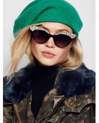Free People | Black Belle Of The Ball Sunglasses | Lyst