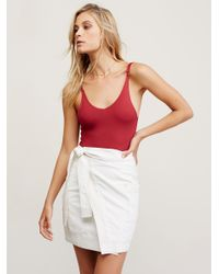 Free People | Red City Slick Bodysuit | Lyst