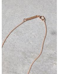 Free People - Metallic Black Diamond V Lariat - Lyst