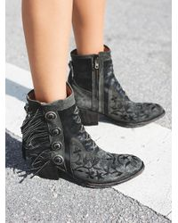 Free People | Black Blazing Ankle Boot | Lyst
