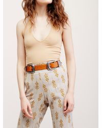 Free People | Brown Bri Bri Leather Belt | Lyst