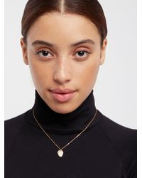 Free People - Black 14k Vermeil Vintage Charm Necklace - Lyst