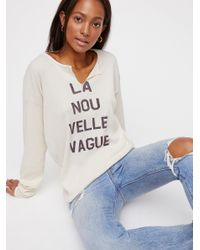 Free People - White New Wave Tee - Lyst