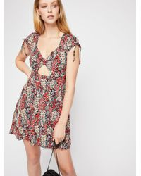 Free People - Pink Miss Right Mini Dress - Lyst