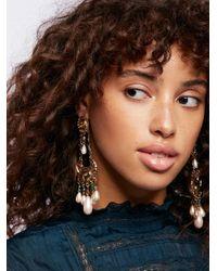 Free People - Metallic Mirabella Stone Drop Earrings - Lyst