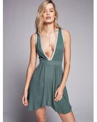Free People | Green Cantina Swing Dress | Lyst