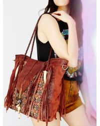Free People | Brown Canyonland Tote | Lyst