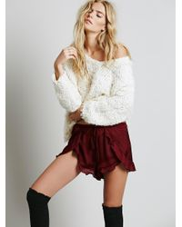 Free People | Red Cascading Petal Short | Lyst