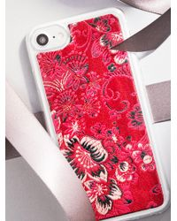 Free People - Red Kimono Iphone Case - Lyst