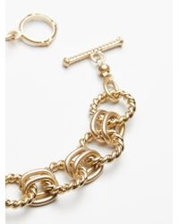 Free People - Metallic Chain Link Metal Anklet - Lyst