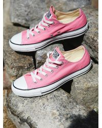 Free People - Pink Charlie Converse - Lyst