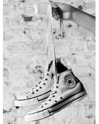 Free People | White Charlie Hi Top Converse | Lyst
